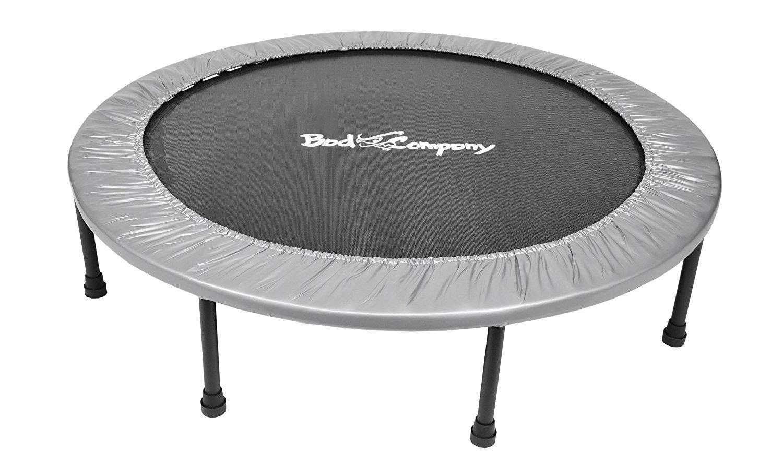 pro mini trampolin 120 cm silver t v gs gepr ft bis 100kg trampoline aerobic cardio bad. Black Bedroom Furniture Sets. Home Design Ideas